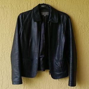 Ann Taylor black 100% leather jacket Sz. S